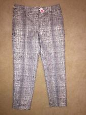 BNWT Boden Ladies Metallic Jacquard Bistro Crop Trousers - Size 12R - RRP £89
