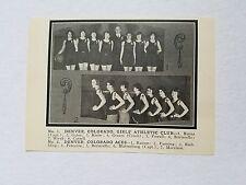 Denver Colorado Women Aces Athletic Club Girls 1925-26 Basketball Team Picture