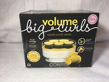 Conair Volume Big Curls 5 Jumbo Rollers- Dual Voltage 1 1/2 Velvety Flocked