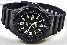Casio MRW200H-1B2 Analog Men's Watch Black 100m WR Day and Date Neo Display New