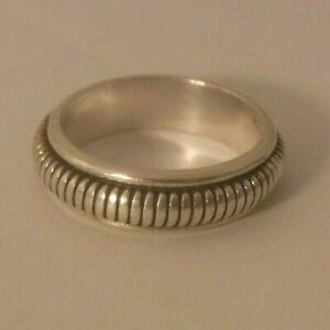 Solid 925 Sterling Silver Ring Spinner Ring Handmade Ring Size sr150