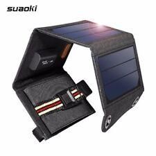 Suaoki Sunpower Portable 7W Folding Foldable Solar Panel Charger 5V 1A USB