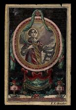 santino incisione 1700 S.LORENZO DIAC. M. dip. a mano