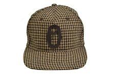 Obey OLD TIMERS Brown Houndstooth Logo Suede Under Brim Snapback Cap Men's Hat