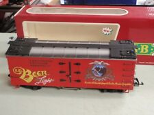 LGB G SCALE 4472 LAKE GEORGE  BOULDER REEFER RED BOX CAR BEER LIGHT MINT IN BOX