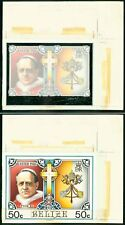 Belize 1986 Easter 50c Pope Pius XI large HANDPAINTED ESSAY
