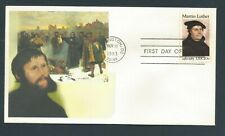 US Stamps FDC / MARTIN LUTHER #2065 / Chris Calle Add-On / 1983