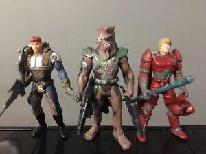 Star Wars Shadows Of The Empire Figures Dash Rendar Luke Chewbacca Figures