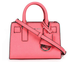 NEW Michael Kors Women's Dillon Mini Top Zip Small Crossbody - Coral