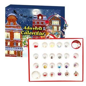 Christmas DIY Beading  Advent Calendar Blind Box Glass Bead Crystal Bracelet