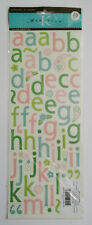 Alphabet Stickers 120 Pcs Pink & Green  K & Company 4 x 12 Inches  NIP