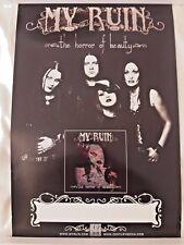My Ruin - The Horror Of Beauty RARE PROMO Poster* Tura Satana Kittie Otep Prong