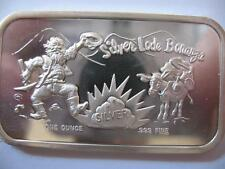 1-OZ .999 SILVER  FUN BAR RARE SILVER LODE BONANZA BULLION BARTER BOXED + GOLD