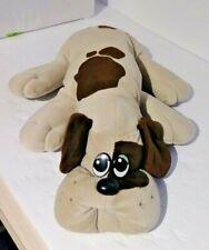 "Pound Puppies Vintage 1985 Large 19"" Dog Plush Gray w/ Brown Spots"