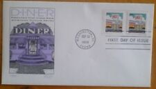 First day of issue, 1998 American Culture Series, Diner tied pair, # 3208