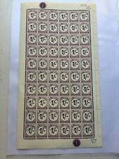 Ghana 12p On 1/- Postage Due 1965 Overprint Issue Complete Sheet