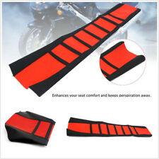 Durable Black Red Soft Leather Motorbike ATV Seat Cover Rubber Cushion Universal