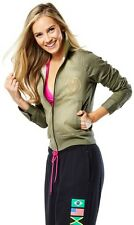 Zumba Military Zip Up World Tour Jacket SMALL  NEW  Rare!!