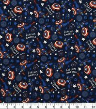 CAPTAIN AMERICA MARVEL SUPERHERO 100% COTTON FABRIC AVENGERS END GAME BY 1/2 YD