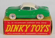Dinky 187 Volkswagen Karmann Ghia Coupe. Green/Cream. V. Near-Mint/Boxed/1950's