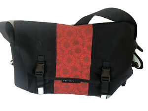 Timbuk2 Classic Messenger Bag Sz. L Black Orange Waterproof Lining