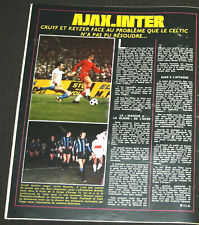 FOOTBALL CRUYFF AJAX AMSTERDAM V MAZZOLA INTER MILAN FINALE COUPE EUROPE 1972