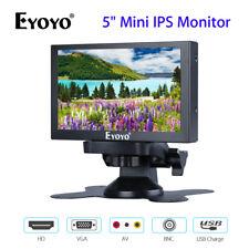 """Eyoyo 5"""" Mini IPS Monitor de visión trasera con VGA/HD/BNC/Entrada Av 400cd/m2 para PC"""