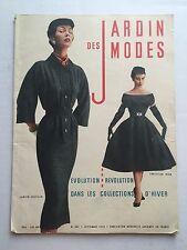 September 1953 French Fashion Magazine Jardin des Modes Lots of Great 50s Fashio
