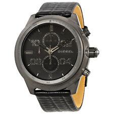 Diesel Padlock Black Dial Mens Chronograph Watch DZ4437