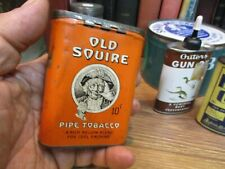 ANTIQUE OLD SQUIRE VERTICAL POCKET TOBACCO TIN CAN TUCKETT CO  CANADA