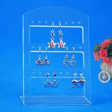 24 Holes Earring Jewelry Show Plastic Display Rack Stand Organizer Holder GU
