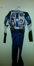 Captain America Muscle Halloween Costume Boys 10-12