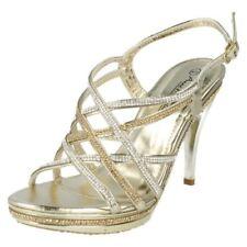 Scarpe da donna oro sera fibbia