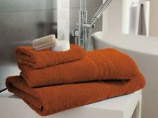 2 x 100% EGYPTIAN COTTON BATH TOWELS ORANGE COLOUR BRAND NEW 70X130 CM