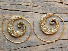 Retro Women Circles Round Spiral Tribal Hoop Earrings Ear Stud Piercing Jewelry