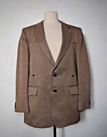 HENRY'S DECATURE WEST COWBOY RANCH WESTERN JACKET BLAZER SPORTCOAT BROWN