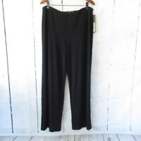 New $109 Sympli Pure Pants 16 Black Wide Leg Pull On Lagenlook