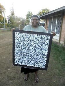 Sharon Numina 77 x 75 cm Original Painting - Aussiepaintings Aboriginal Art