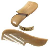 Dr. Dittmar Eleganter Bartkamm oder Wimpernkamm aus hellem Büffelhorn echt Horn