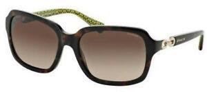 COACH-HC8104 L081 ASHLEY 523213 Dark Tortoise/Green Dark Brown Gradient