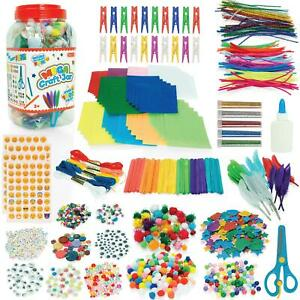 Arts and Crafts Mega Craft Jar Kit For Kids - Over 1,500 Pieces! - Ages 3 Years+