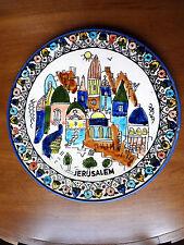"""Vintage JERUSALEM ARMENIAN POTTERY PLATE ISRAEL Hand Painted 10.5"""" EUC! 1967"""