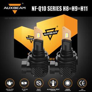 AUXBEAM H11 H9 H8 LED Headlight High/Low Beam Bulb Conversion Kit 6500K Bright