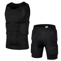 Men Protector Basketball Sports Crashproof Padded Pad Compression Short Pants US