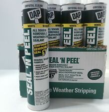 Dap 18351 Seal 'N Peel Removable Clear Caulk, 10.1-Ounce - CASE OF 12!!