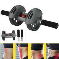 2 Wheels Ab Wheel Roller Abdominal Muscle Trainer Exerciser Gym Home Fitness S