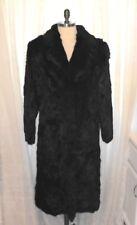 Beautiful Vintage 1960s Full Legnth Black Rabbit FUR Princess Coat