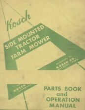 Kosch Side Mounted Tractor Mower Parts Amp Operator Manual Farmall H M P46