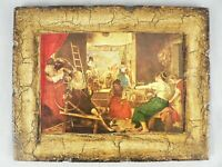 Velazquez Art Print Decoupage & Antiqued Finish on Wood Panel the Women Spinners