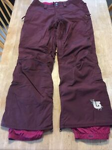 "Burton Ski Pants Misses Small Cranberry 32"" Waist"
